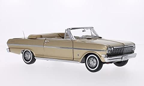 Chevrolet Nova Convertible, metallic-hellbraun, 1963, Modellauto, Fertigmodell, Sun Star 1:18