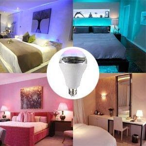 Magichue Neu Farbige Leuchtmittel Sunset Smart Led Bluetooth Lampe Dimmbar Sonnenuntergang E27 Und E26 16 Mio Farben Fuer Android Und Ios (6w Farben Lampe+3w Speaker) 8