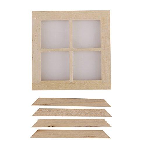 fenster puppenhaus Sharplace 1:12 Puppenhaus Miniatur Holz Fenster Puppenmöbel - 7X 7cm