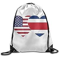7edc507e4ff0 Unisex Costa Rica USA Twin Flag Print Drawstring Backpack Rucksack Shoulder  Bags Gym Bag Sport Bag