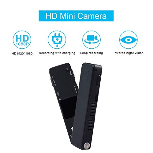 Balscw-J Spion Hidden Camera-1080P Portable Mini Security Camera Nanny Cam mit Night Vision/Motion Detection für Home and Office, Keine WiFi-Funktion