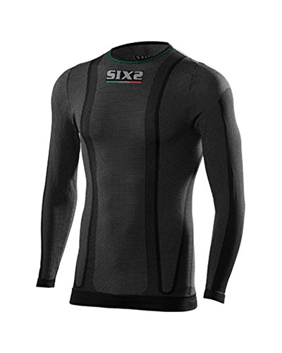 SIX2 T-Shirt ml Superlight Black Carbon-XXL Unisex Adulto