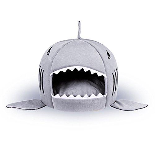 Haustier Warme Weiche Schlafsack Haifisch Hundezucht Katze Bed