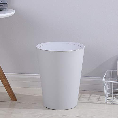 LACMY Indoor runden Mülleimer Haushalt Bad Wohnzimmer Schlafzimmer WC abgedeckt Mülleimer