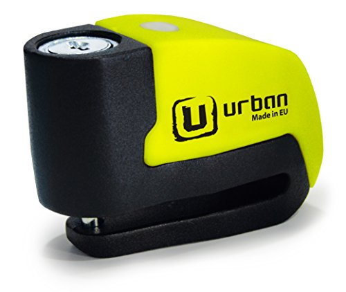 Urban Security UR6 Candado Antirrobo Disco con Alarma+Warning 120dB, ø6, Made In EU