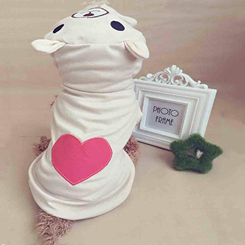 TMMDZZ Süße Hundebekleidung Für Kleine Hunde Baumwolle Kleidung Mantel Hoodies Für Chihuahua Haustiere Hunde Warme Kleidung Pyjamas Liebe Bär Kostüm Xs · (Günstige Bär Kostüm)