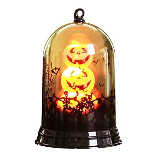 HROIJSL Kleiner Lampenschirm der Halloween-Kürbislampenszene kleine Szenendekorationsausgangsdesktopdekoration schwarzen Katze Fröhliches Halloween Kürbis Dekorative Möbel