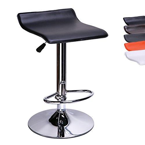 CCLIFE Drehbar Barhocker Höhenverstellbar – Barhocker Küche Barhocker Kunstleder Sitzhöhe 58 – 78 cm (Farbwahl)