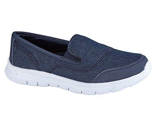 Damen Flexi Surf Komfort Turnschuhe Freizeit Walk Pumps Sportschuhe Holiday Go Schuh Größe 4-8 Jean