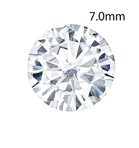 Gowe Testen positiven 7mm 1,2Karat VS D Farbe Charles COLVARD Forever One Rundschliff Moissanit Diamant lose Steine mit Zertifikat (Diamanten Lose Ring)