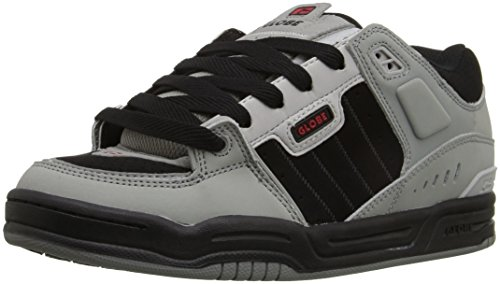 Globe Men's Fusion,Black/Night,14 D US Grey/black/red