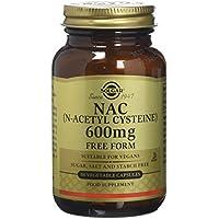 Solgar NAC 600 mg Vegetable Capsules (N-Acetyl-L-Cysteine) - 60 Capsules