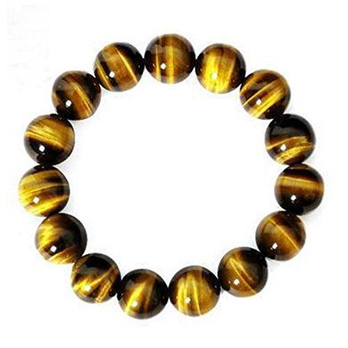 West See Damen Herr Armreif Tigerauge natürliche Edelsteine Elastic Perlenarmband
