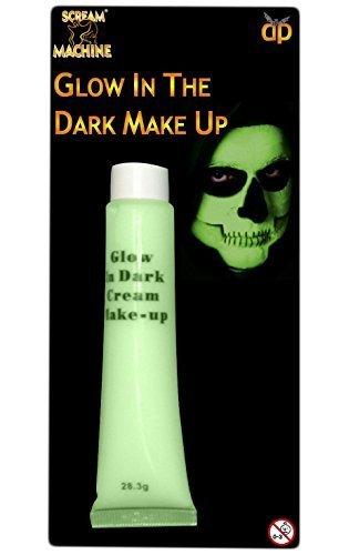 DUNKLEN CREME MAKE-UP HORROR ZOMBIE HALLOWEEN KOSTÜM SATZ - LEUCHTET IM DUNKLEN MAKE-UP (Zombie Make Up Creme)