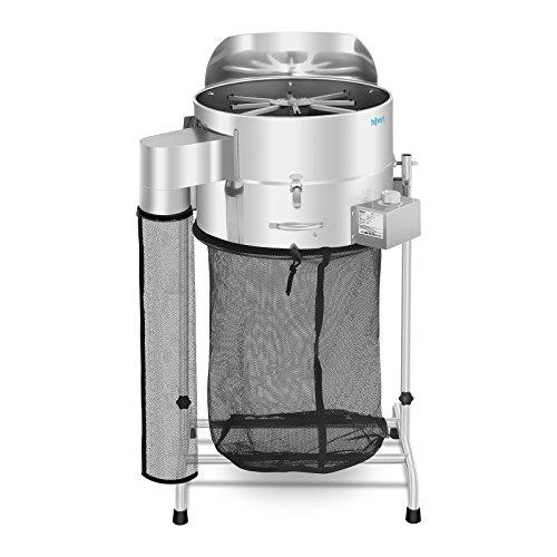 Hillvert Erntemaschine HT-HOWSON-18TE (Leistung: 120 W, Rotation bis 1.500 U/min, neigbar bis 180°, Durchmesser Behälter: 420 mm (18 Zoll), Material: Edelstahl) - Leaf Trimmer
