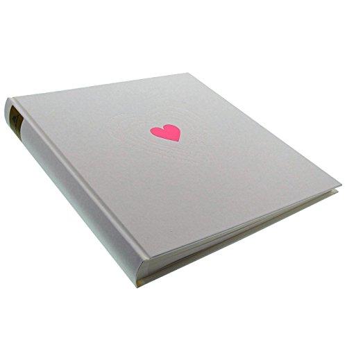Goldbuch Fotoalbum, Ti Amo, 30 x 31 cm, 60 weiße Seiten mit Pergamin-Trennblättern, Metallisiertes Papier mit Blind- und Rotprägung, Weiß, 27015