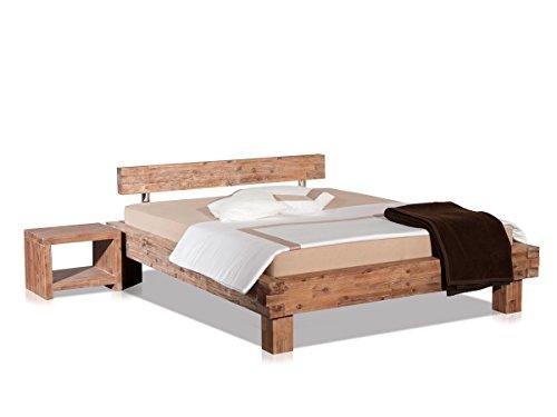 Modular Bett San Marcos, Akazie Massiv, sandgestahlt und gebeizt