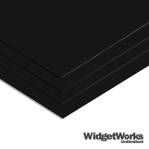 Schwarz Styrol THERMOFORM Kunststoff Blatt 0,1x 30,5x 45,7cm Blatt–8Stück Bundle