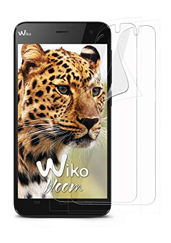 moex 2X Wiko Bloom | Schutzfolie Klar Bildschirm Schutz [Crystal-Clear] Screen Protector Display Handy-Folie Dünn Bildschirmschutz-Folie für Wiko Bloom Bildschirmfolie