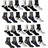 Tachi Pure Cotton & Soft Sports Socks Pack of 8 with Full Elastane Flat High Ankle Socks for Men