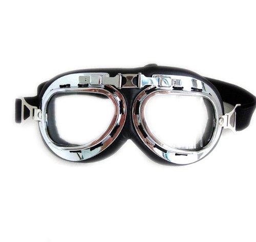 Klassische Motorradbrille Fliegerbrille