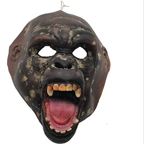 Thriller Zombie Kostüm Bilder - Tcbz Halloween-Maske, Gruselmaske, Thriller-Requisiten, Komfort, atmungsaktiv, Party-Maske, Urlaubszubehör, Bild Picturecolor