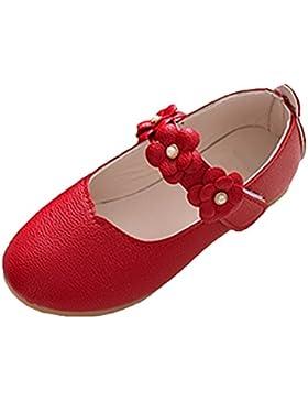 Scothen Chicas bailarinas zapatos princesa estudiantes zapatos de baile zapatos de cuero de la mariposa niños...