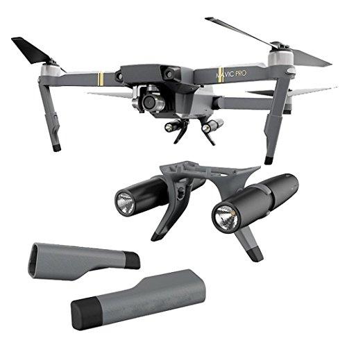 Mountain Home Pa (Landing Gear Verlängerung mit LED Scheinwerfer, Protector 3in 1Zubehör Set für DJI Mavic, schwarz)
