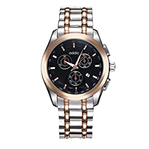 Addic Elegenant Stylish Black Dial Watch For Men's & Boys.
