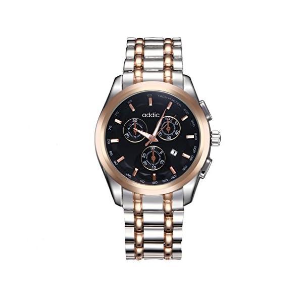 Addic Elegenant Stylish Black Dial Watch For Men's & Boys.