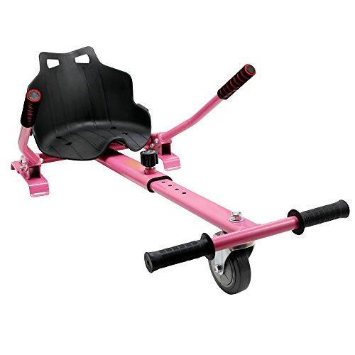 Hiboy-Asiento Kart para Patinete Eléctrico, Silla Self Balancing Compatible con Todos los Patinetes Eléctricos de 6.5, 8 y 10 Pulgadas, Rosa