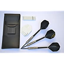 McCOY SHARKGRIP 90% TUNGSTEN 24g DARTS SET WITH 2 SETS OF STRONG FLIGHTS AND STEMS