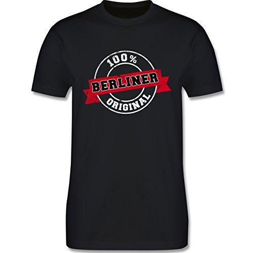 Städte - Berliner Original - Herren Premium T-Shirt Schwarz