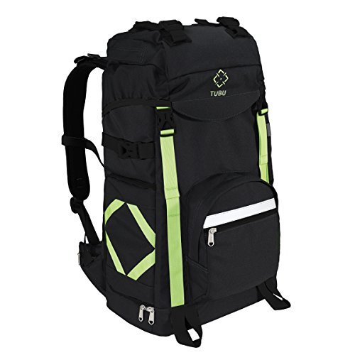 Tubu Kamera Rucksack für Outdoor Wandern stoßfest wasserdicht Passform Laptop DSLR-Kameras und Zahnräder schwarz -