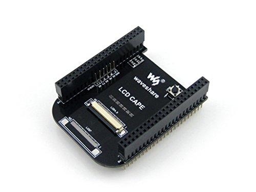 Waveshare Beaglebone Black Kit 512MB DDR3 4GB 8bit eMMC 1GHz Arm Cortex-A8 Development Board Expansion Board Cape Supports 4.3inch LCD Screen 512 Mb Lcd