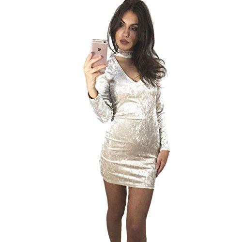 Vestido de terciopelo blanco