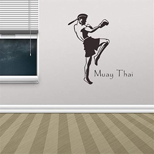Thai Vinyl Wandtattoo Wohnkultur Wohnzimmer Zitat Art Removable Wall Decor Removable Living Wandaufkleber Weiß 58 X 63 cm ()
