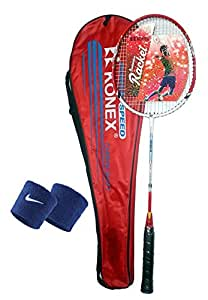 Mor Sporting KNX Joint less Body Badminton Racquet CI-5 with sweat band