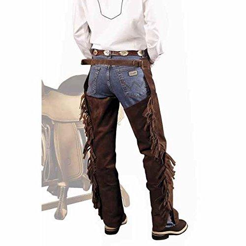 Neo Skin Western Chaps Lakota aus Veloursleder mit Fransen und Reißverschluss Montage Western cicalzoo -
