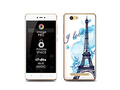 etuo Handyhülle für Allview X3 Soul Lite - Hülle, Silikon, Gummi Schutzhülle Fantastic Case - Blauer Eiffelturm