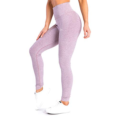 SMILODOX Sport High Waist Leggings Ladies | Seamless - Body Shaping Tight for Fitness Gym Yoga Training & Leisure | Sports Pants - Workout Training Pants, Farbe:Lila, Größe:S