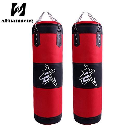 Boxsack Leder Leere hängende Kette MMA Martial Art Boxing Training schwere Tasche Kick Bag