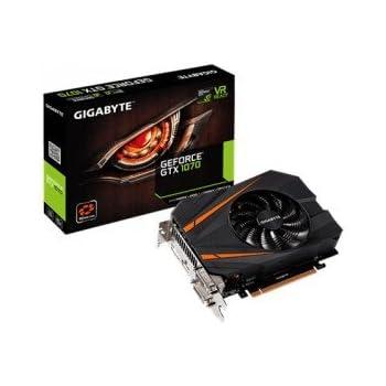 Gigabyte GV-N1070IX-8GD GeForce GTX 1070 8GB GDDR5 - Tarjeta gráfica (GeForce GTX 1070, 8 GB, GDDR5, 256 bit, 7680 x 4320 Pixeles, PCI Express x16 ...