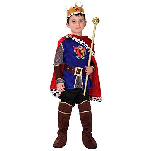 LOLANTA 7 STÜCKE Jungen Mittelalterlichen Prinz König Kostüm Kind Halloween Prinz Cosplay Kostüm (Mittelalterlicher König Kostüm)