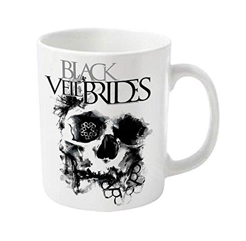 Black Veil Brides Skullogram-Tazza ufficiale con scatola, colore: bianco
