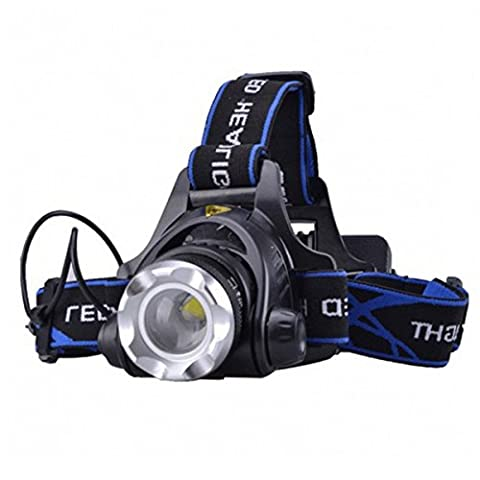 LED Headlamp Flashlight - WinCret Aluminum Alloy Adjustable Focus 1000 lumens Headlight, Plus with 2 18650 Batteries and a Charger for Outdoor