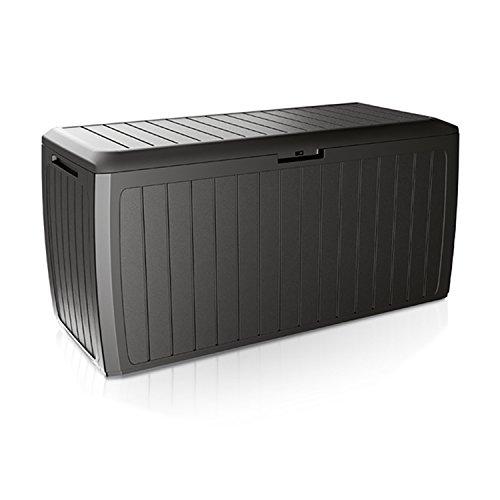 Mojawo Kunststoff Auflagenbox Kissenbox Gartenbox Gartentruhe mit Rollen für Polsterauflagen...