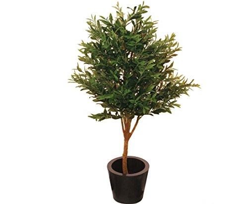 Olivenbaum Kunstbaum, mit Naturstamm, mit 2560 olivgrünen Blätter, Höhe 160cm – künstliche Bäume Dekobäume