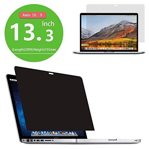 PaceBid Filtro de Privacidad Premium Compatibile con MacBook Pro 13'(2016-2018) Anti-Spy Privacy Screen Filter Protector de Pantalla para Ordenador Portátil