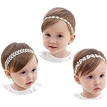 Jmitha 3 piezas Recién nacido y bebés del pelo de la venda elástico Bebé pelo diadema